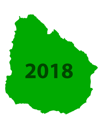 Map of Uruguay 2018