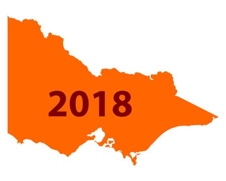 ビクトリア地図 2018 写真素材 - 93655486