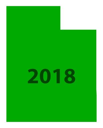 Map of Utah 2018 Иллюстрация