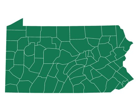 Map of Pennsylvania Иллюстрация
