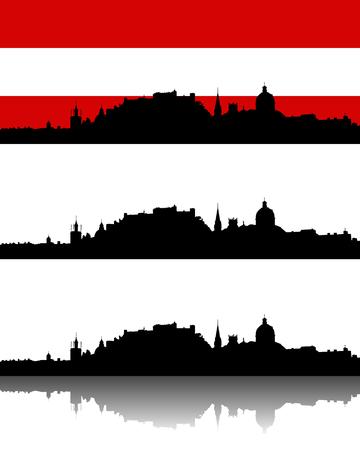 Silhouette of Salzburg