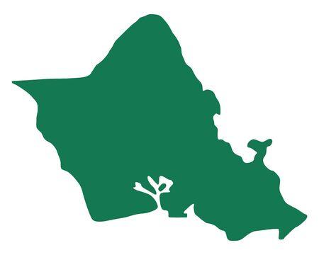 Map of Oahu