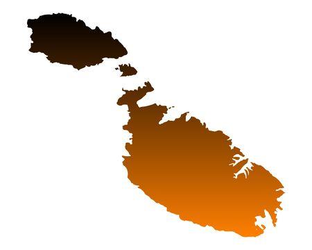 Map of Malta 스톡 콘텐츠 - 96241233