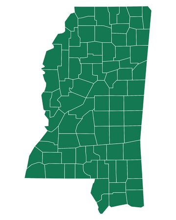 Map of Mississippi Ilustrace