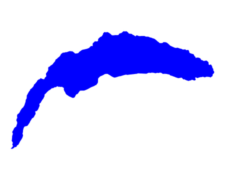 Map of Lake Geneva Vectores