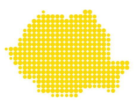 Kaart van Roemenië geïsoleerd op effen achtergrond.