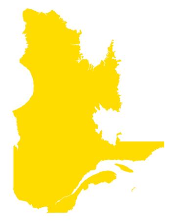 Map of Quebec Vector illustration.