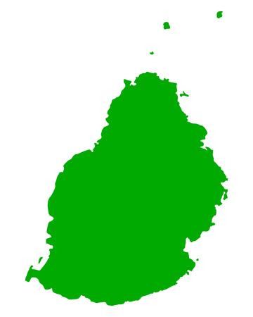 Map of Mauritius isolated on white background Illustration