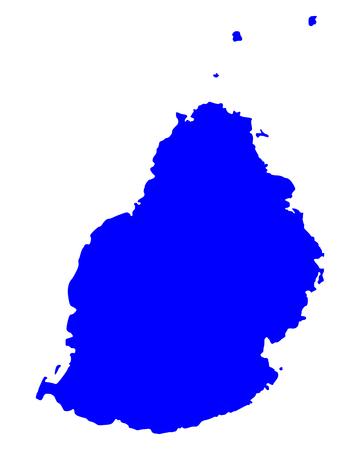 Map of Mauritius.