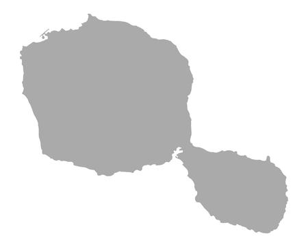 Map of Tahiti 일러스트