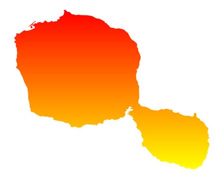 Map of Tahiti  イラスト・ベクター素材