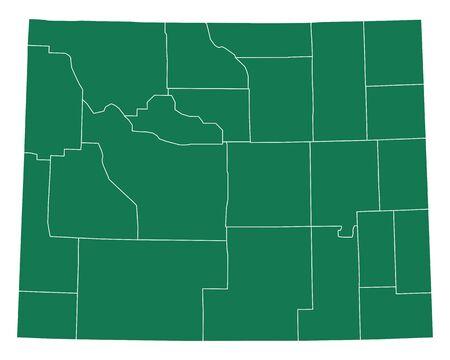 Map of Wyoming