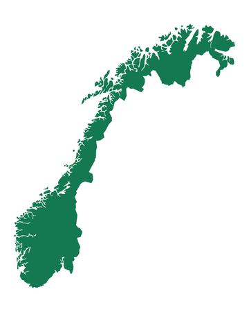 Map of Norway Vettoriali