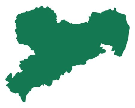 Map of Saxony