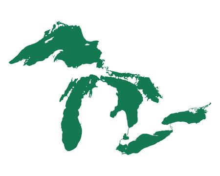 五大湖地図 写真素材 - 101267511