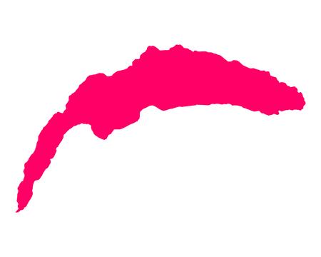 Map of Lake Geneva Illustration