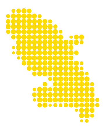 Map of Martinique Illustration