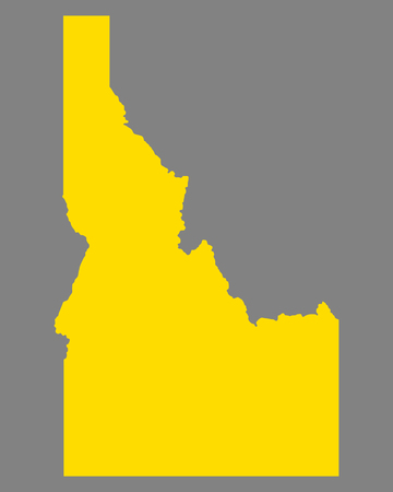 Map of Idaho 向量圖像