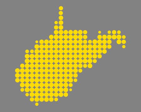Map of West Virginia Stock Vector - 104577854