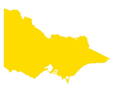 Map of Victoria  イラスト・ベクター素材
