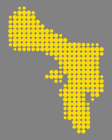 Map of Bonaire Illustration
