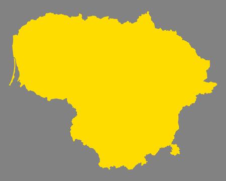 Map of Lithuania Векторная Иллюстрация