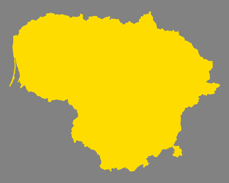 Map of Lithuania Illustration