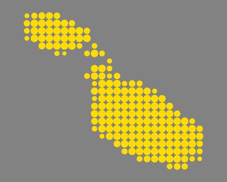 Map of Malta 스톡 콘텐츠 - 111561109