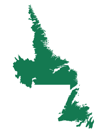 Map of Newfoundland and Labrador Banque d'images - 111561123