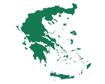 Map of Greece Vectores