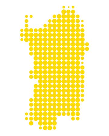 Map of Sardinia Иллюстрация