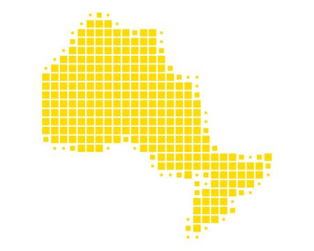 Map of Ontario Illustration