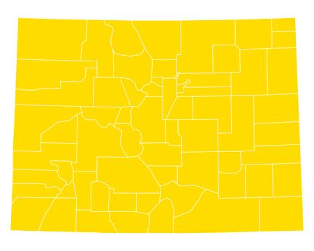 Map of Colorado Illustration