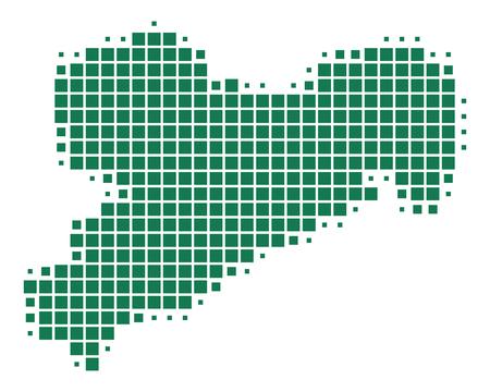 Map of Saxony Standard-Bild - 111561183