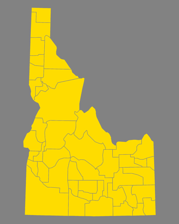 Map of Idaho 스톡 콘텐츠 - 111561184