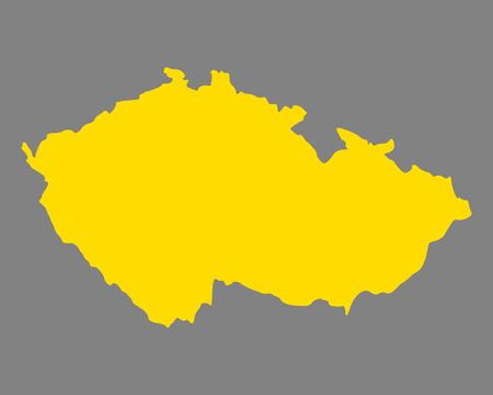 Map of Czech Republic Çizim