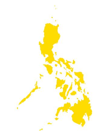 Map of Philippines Illusztráció