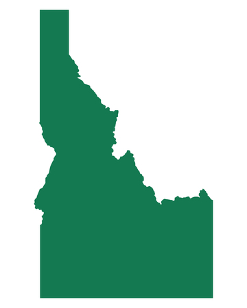 Map of Idaho 일러스트