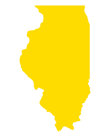 Map of Illinois Illustration
