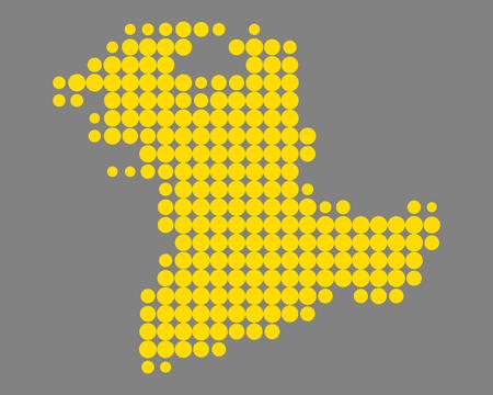 Map of Bern Illustration