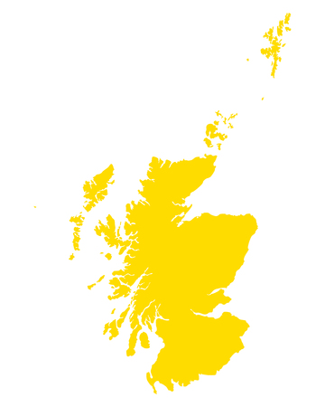 Map of Scotland Çizim
