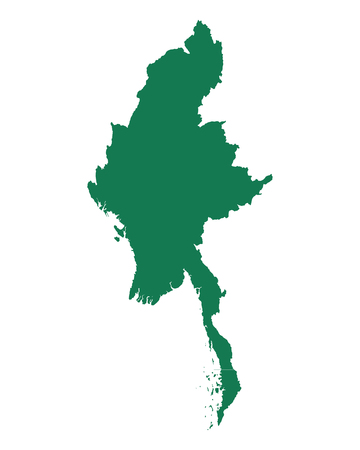 Map of Myanmar Иллюстрация