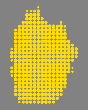 Map of Flores 版權商用圖片 - 127461845