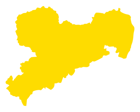 Map of Saxony Standard-Bild - 112490110