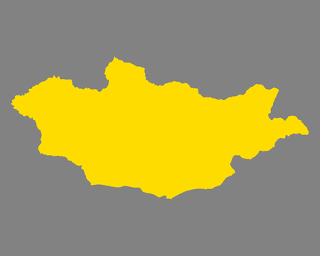 Map of Mongolia Illustration