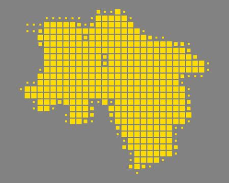 Map of Lower Saxony Standard-Bild - 127461916