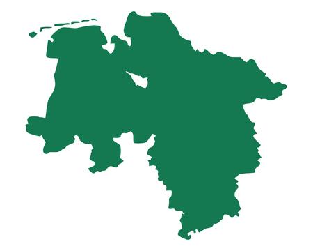 Map of Lower Saxony Standard-Bild - 114390554