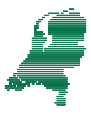 Map of Netherlands Foto de archivo - 127115905