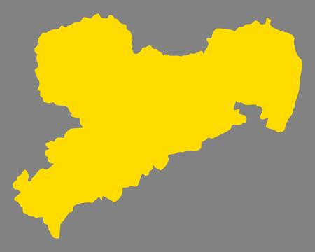 Map of Saxony Standard-Bild - 127115917