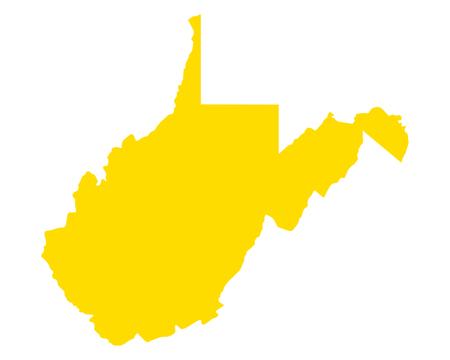 Map of West Virginia Stock Vector - 114390713